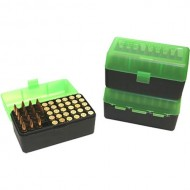 MTM  Ammo Boxes Rifle Green/Black 270 WSM- 45-70 Government 50