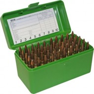 MTM  Ammo Boxes Rifle Green 240 Weatherby Magnum - 35 Whelen 50