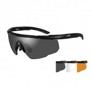 WILEY X EYEWEAR SABER SHOOTING GLASSES  WX Saber Advanced-Black Frame-Grey/Clear/Rust Lens