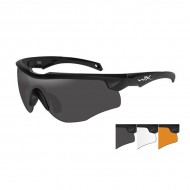 WILEY X EYEWEAR ROGUE GLASSES  WX Rogue- Black Frame- Grey/Clear/Rust Lens