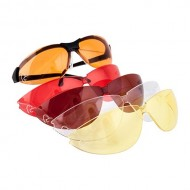 PYRAMEX SAFETY PRODUCTS PYRAMEX SHOOTING GLASSES  Amber Blue/Bronze/Clear/Orange Pyramex Shooting Gl