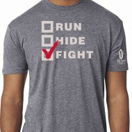 VICTORY FIRST/VICTORY WEAR MEN'S RUN, HIDE, FIGHT! T-SHIRTS  Run, Hide, Fight! TShirt
