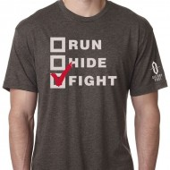 VICTORY FIRST/VICTORY WEAR MEN'S RUN, HIDE, FIGHT! T-SHIRTS  Run, Hide, Fight! TShirt Macchiatto Md