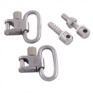 UNCLE MIKES 115 NICKEL PLATED SWIVEL SET  1